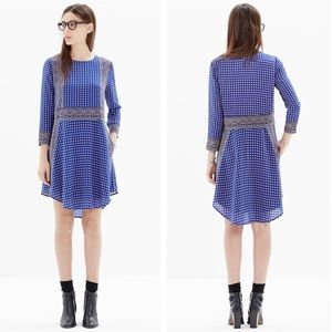 Madewell | Silk Shift Dress in Ascot Grid | Large